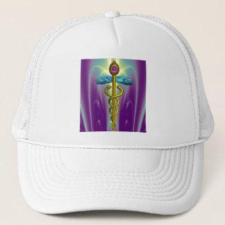 CADUCEUS , vibrant gold amethyst Trucker Hat