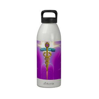 CADUCEUS,Vibrant Gold Amethyst Drinking Bottles