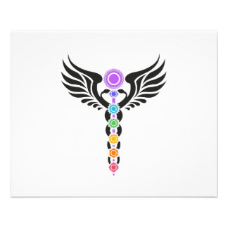 Caduceus - Winged Serpent– Kundalini – 7 Chakras Flyer