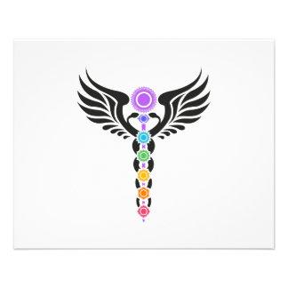 Caduceus - Winged Serpent– Kundalini – 7 Chakras Custom Flyer