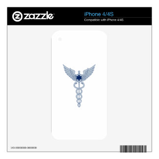 Caduceus With Pilot Wings EMT Star Icon Decal For iPhone 4S
