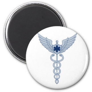 Caduceus With Pilot Wings EMT Star Icon Magnet