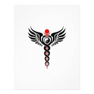 "Caduceus – Yin Yang – Winged Serpent – Hermetic 8.5"" X 11"" Flyer"