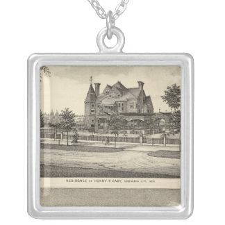 Cady and Kilpatrick, Nebraska Square Pendant Necklace