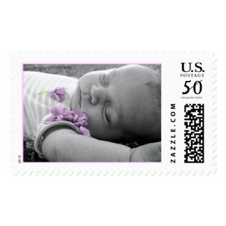 Cady Kitten With Flowers Postage