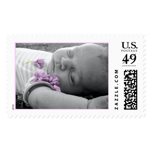 Cady Kitten With Flowers Postage Stamp