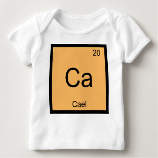 Cael Name Chemistry Element Periodic Table Baby T-Shirt