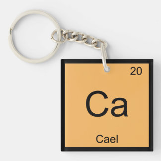 Cael Name Chemistry Element Periodic Table Keychain