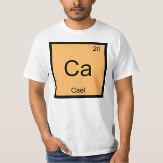 Cael Name Chemistry Element Periodic Table T-Shirt