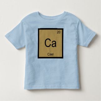 Cael Name Chemistry Element Periodic Table Toddler T-shirt