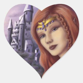 Caelia de Fairie Pegatina En Forma De Corazón