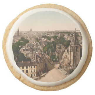 Caen, Basse-Normandie, France Round Shortbread Cookie