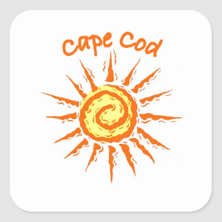 Caep Cod Square Stickers