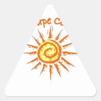 Caep Cod Triangle Sticker