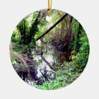 Caer los árboles Green River deposita Posterized Ornamento Para Reyes Magos