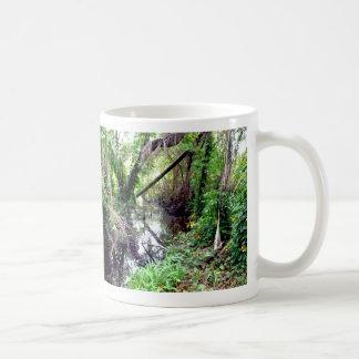 Caer los árboles Green River deposita Posterized Tazas De Café