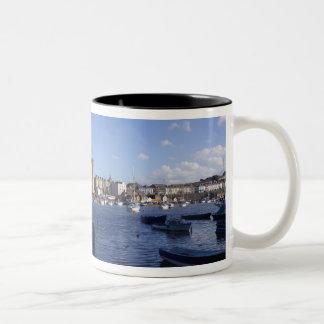 Caernarfon Castle, Gwynedd, Wales 2 Two-Tone Coffee Mug