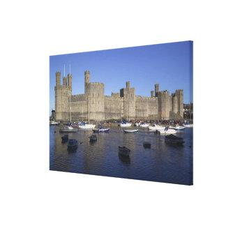 Caernarfon Castle Gwynedd Wales RF Gallery Wrap Canvas