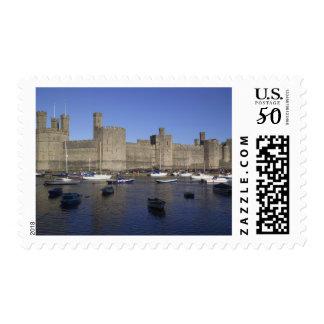 Caernarfon Castle, Gwynedd, Wales (RF) Postage