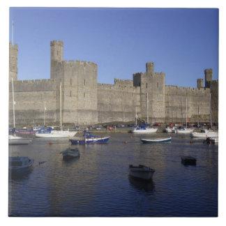 Caernarfon Castle, Gwynedd, Wales (RF) Tile