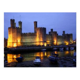 Caernarfon castle post card