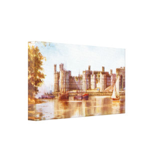 Caernarfon castle Wales Stretched Canvas Prints