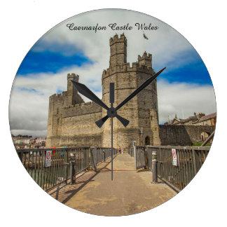 Caernarfon Castle Wales. Large Clock