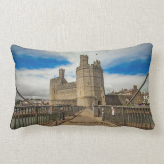 Caernarfon Castle Wales. Lumbar Pillow