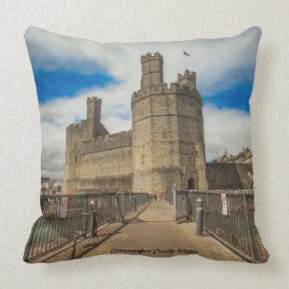 Caernarfon Castle Wales. Throw Pillow