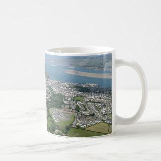 Caernarfon from above basic white mug