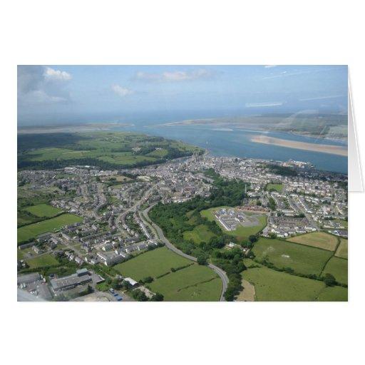 Caernarfon from the sky card