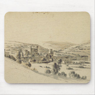 Caerphilly Castle (pen, ink and wash on paper) Mouse Pad