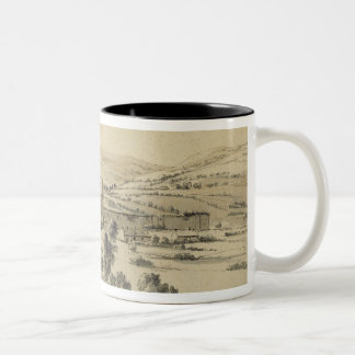 Caerphilly Castle (pen, ink and wash on paper) Two-Tone Coffee Mug