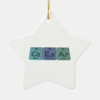 Caesar-Ca-Es-Ar-Calcium-Einsteinium-Argon.png Ceramic Ornament