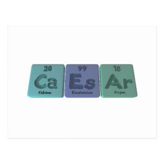 Caesar-Ca-Es-Ar-Calcium-Einsteinium-Argon.png Postcard
