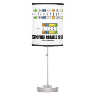 Caesar Cipher Rotated 13 Steps Cryptography Desk Lamp