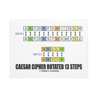 Caesar Cipher Rotated 13 Steps Cryptography Doormat