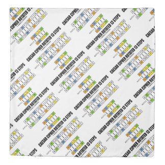 Caesar Cipher Rotated 13 Steps Cryptography Duvet Cover