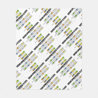 Caesar Cipher Rotated 13 Steps Cryptography Fleece Blanket