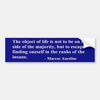 Caesar Marcus Aurelius Quote - Sticker Car Bumper Sticker