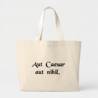 Caesar or nothing jumbo tote bag