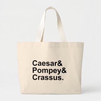 Caesar Pompey Crassus | The Roman Triumvirate Large Tote Bag
