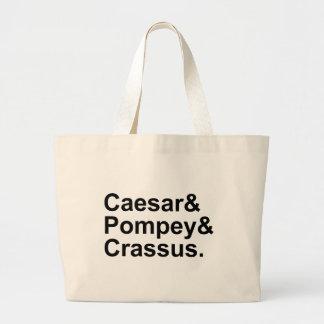 Caesar Pompey Crassus   The Roman Triumvirate Large Tote Bag