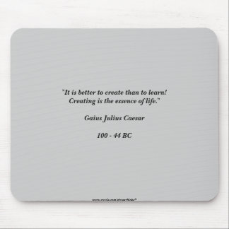 Caesar Quote Mouse Pad