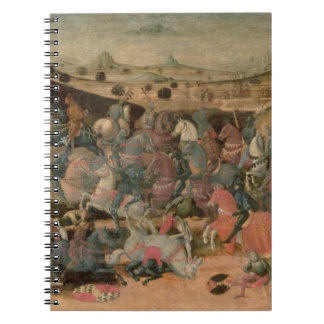Caesar Triumphing in Battle (tempera on panel) Notebook