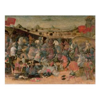 Caesar Triumphing in Battle (tempera on panel) Postcard