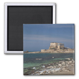 Caesarea ruins of port built by Herod the Great 2 2 Inch Square Magnet