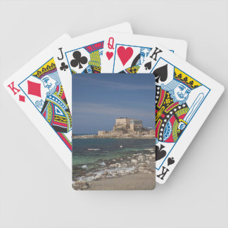 Caesarea ruins of port built by Herod the Great 2 Bicycle Playing Cards