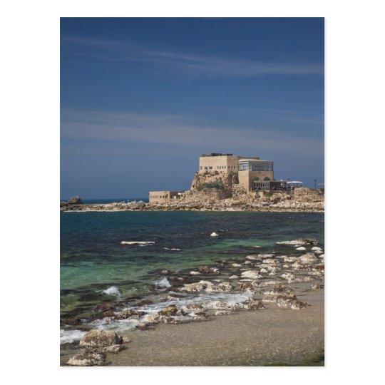 Caesarea ruins of port built by Herod the Great 2 Postcard