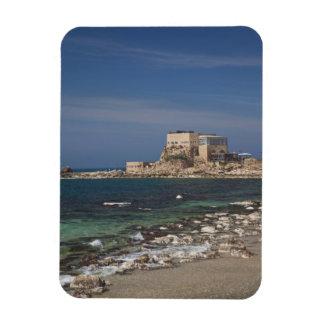 Caesarea ruins of port built by Herod the Great 2 Rectangular Photo Magnet